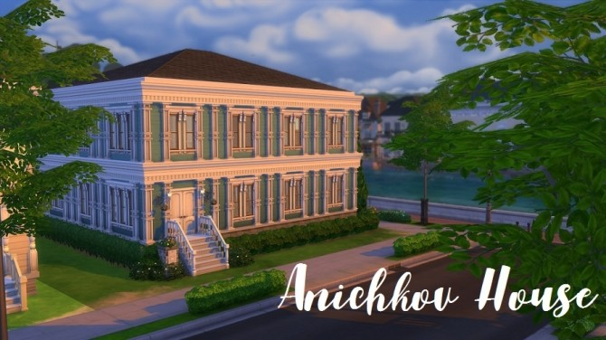 Sims 4 Anichkov House (no CC) by yourjinthemiddle at Mod The Sims