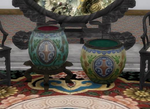 Titan Quest Jade Palace Vases by BigUglyHag at SimsWorkshop image 1061 Sims 4 Updates