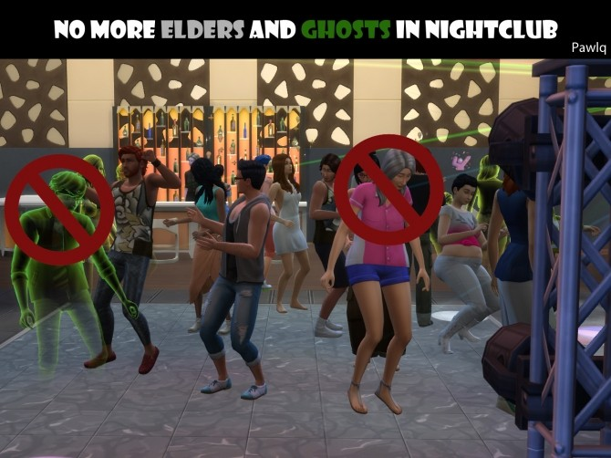 No More Elders and Ghosts In Nightclub by Pawlq at Mod The Sims image 10610 670x502 Sims 4 Updates