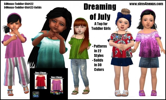 Dreaming of July top by SamanthaGump at Sims 4 Nexus image 10814 670x402 Sims 4 Updates