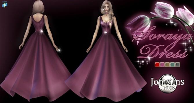 Sims 4 Soraya dress at Jomsims Creations