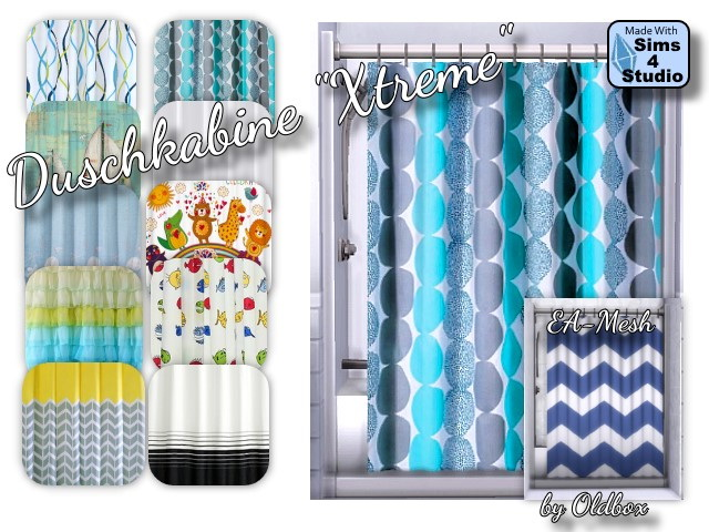 Xtreme Shower curtains by Oldbox at All 4 Sims image 1087 Sims 4 Updates