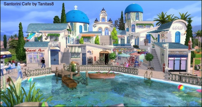 Santorini Cafe at Tanitas8 Sims image 1093 670x357 Sims 4 Updates