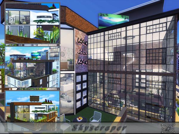 Skyscraper house by Danuta720 at TSR image 1094 Sims 4 Updates