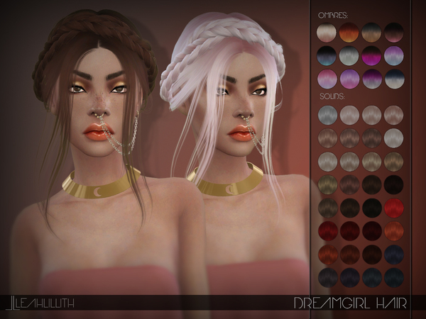 Dreamgirl Hair by LeahLillith at TSR image 1100 Sims 4 Updates