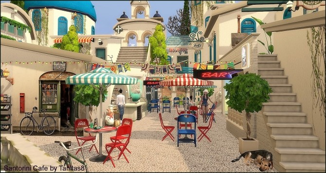 Santorini Cafe at Tanitas8 Sims image 1104 670x357 Sims 4 Updates
