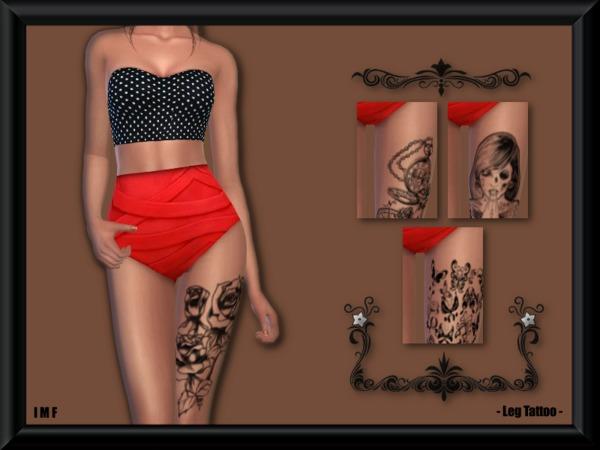 IMF Leg Tattoo by IzzieMcFire at TSR image 1105 Sims 4 Updates