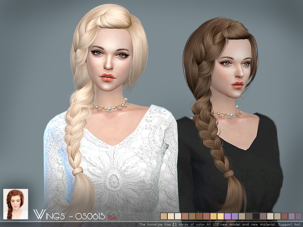 OS0615 hair by Wings Sims at TSR image 1107 Sims 4 Updates