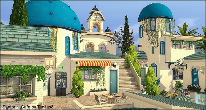 Santorini Cafe at Tanitas8 Sims image 1116 670x357 Sims 4 Updates