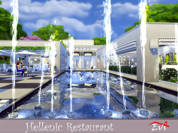 Hellenic Restaurant by evi at TSR image 1117 Sims 4 Updates