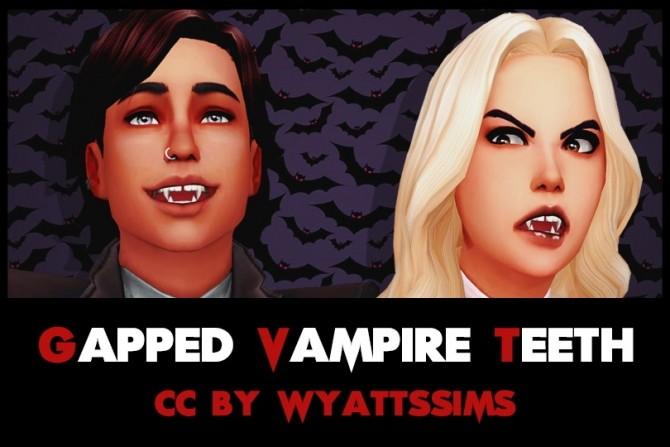 GAPPED VAMPIRE TEETH at Wyatts Sims image 11212 670x447 Sims 4 Updates