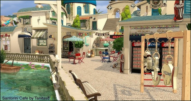 Santorini Cafe at Tanitas8 Sims image 1123 670x357 Sims 4 Updates