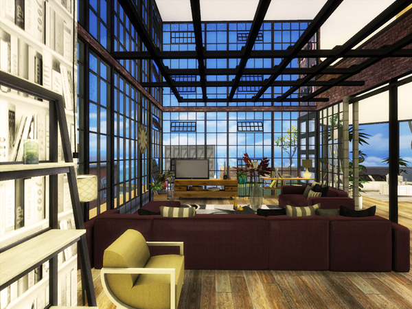 Skyscraper house by Danuta720 at TSR image 1124 Sims 4 Updates