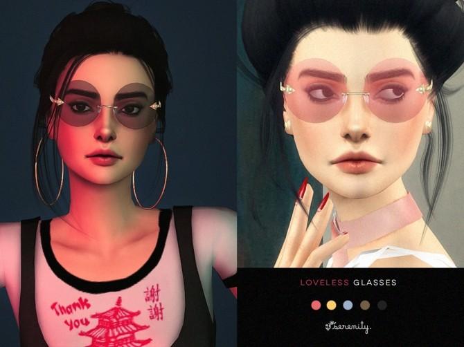 Sims 4 Loveless Glasses at SERENITY