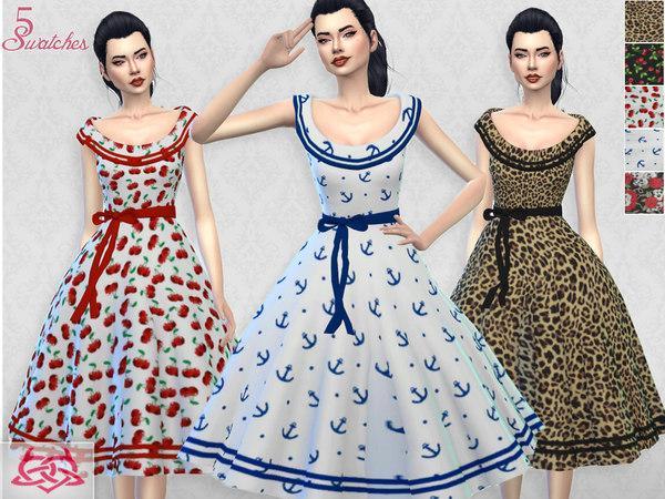 Romi dress RECOLOR 7 by Colores Urbanos at TSR image 1134 Sims 4 Updates