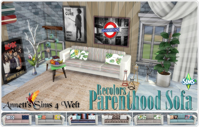 Parenthood Sofa Recolors at Annett's Sims 4 Welt image 1137 Sims 4 Updates