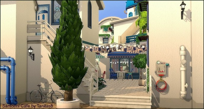 Santorini Cafe at Tanitas8 Sims image 1143 670x357 Sims 4 Updates