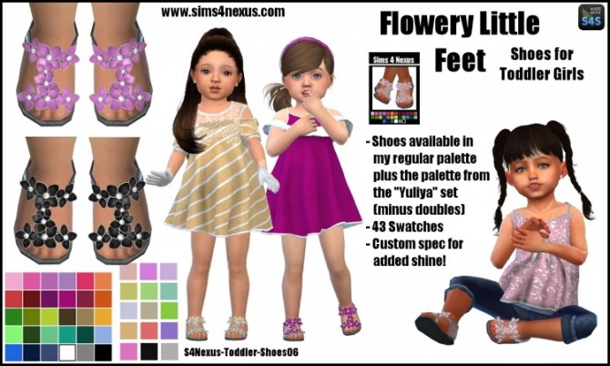 Flowery Little Feet by SamanthaGump at Sims 4 Nexus image 11510 670x402 Sims 4 Updates