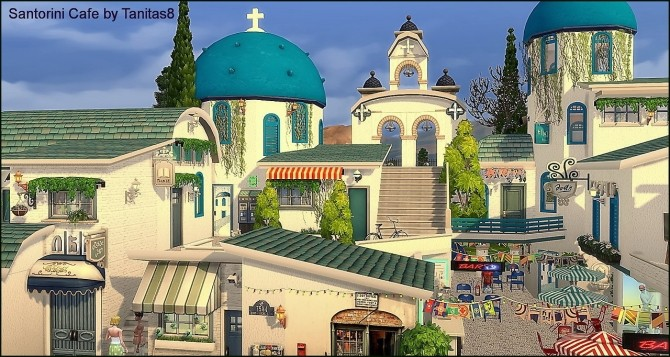 Santorini Cafe at Tanitas8 Sims image 1153 670x357 Sims 4 Updates