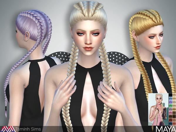 Maya Hair 32 by TsminhSims at TSR image 1154 Sims 4 Updates