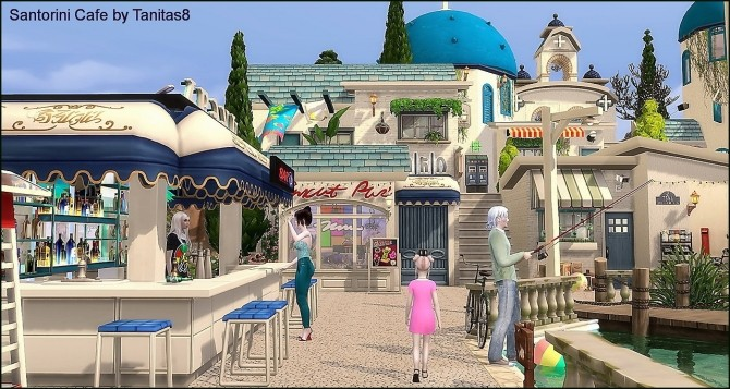 Santorini Cafe at Tanitas8 Sims image 1163 670x357 Sims 4 Updates