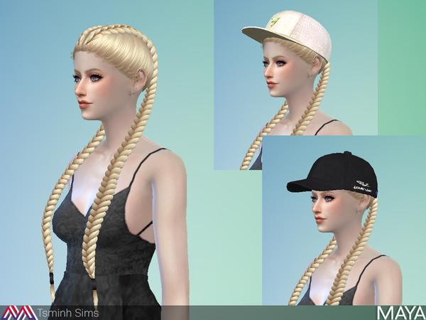 Maya Hair 32 by TsminhSims at TSR image 1164 Sims 4 Updates