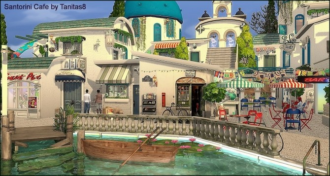 Santorini Cafe at Tanitas8 Sims image 1173 670x357 Sims 4 Updates
