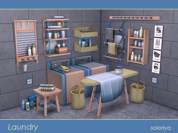 Sims 4 Laundry set by soloriya at TSR