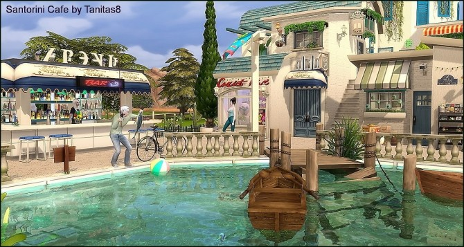 Santorini Cafe at Tanitas8 Sims image 1183 670x357 Sims 4 Updates