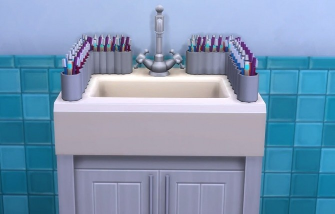 Sims 4 Single pipe sink with 26 slots by OM at Sims 4 Studio
