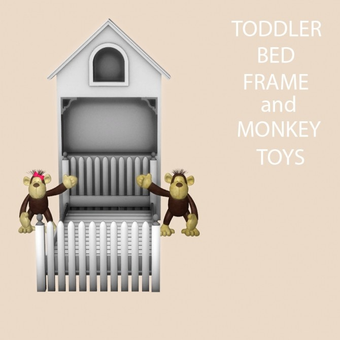 Toddler Bed Frame and Monkey Toys at Leo Sims image 1202 670x670 Sims 4 Updates