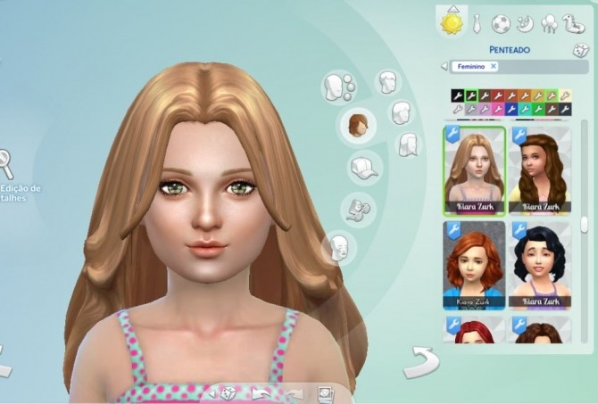 Sims 4 Madeline Hairstyle for Girls at My Stuff