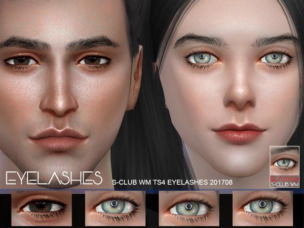 Sims 4 Eyelashes 201708 by S Club WM at TSR