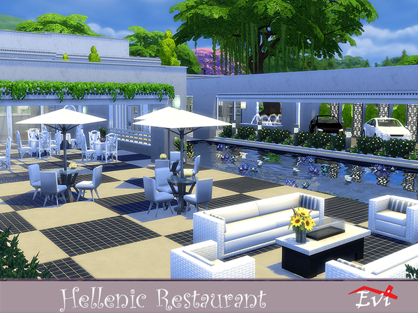 Hellenic Restaurant by evi at TSR image 1216 Sims 4 Updates