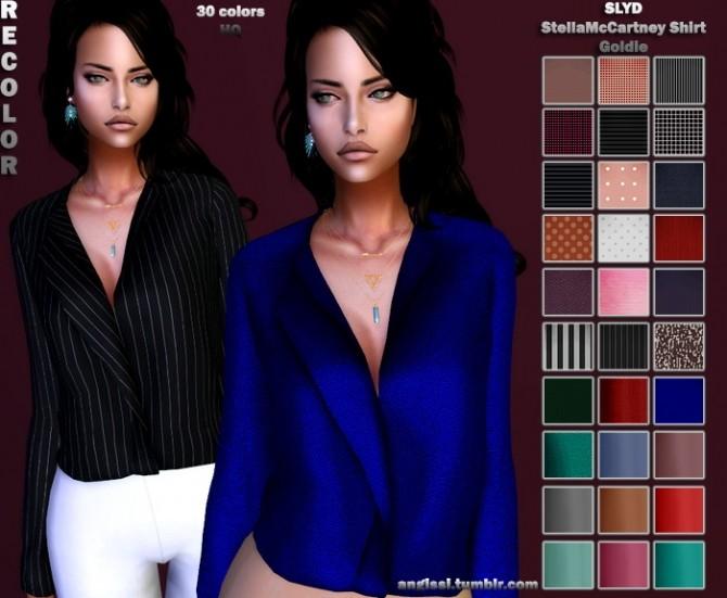 Sims 4 SLYDs shirt recolors at Angissi