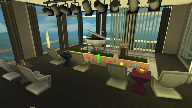 Sims 4 Club 80 Rooftop Lounge by Deontai at Mod The Sims