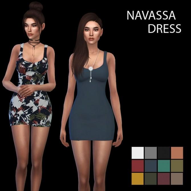Sims 4 Navassa Dress at Leo Sims