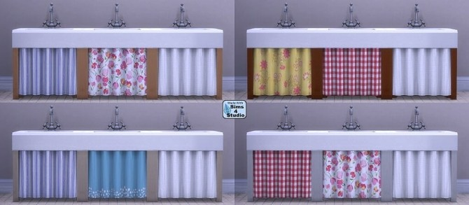 Single pipe sink with curtain by OM at Sims 4 Studio image 12312 670x293 Sims 4 Updates