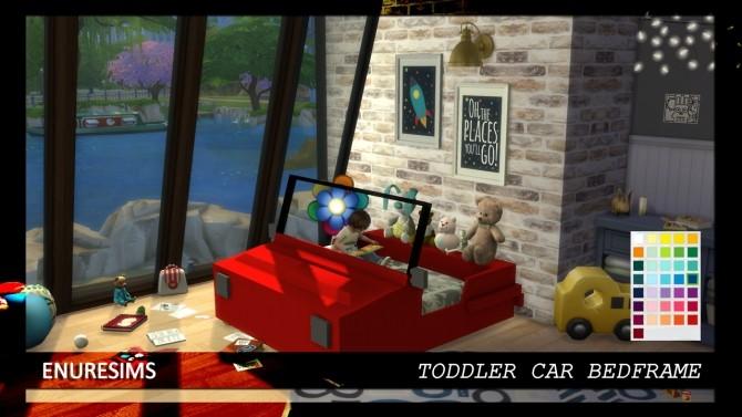 Toddler Car Bedframe at Enure Sims image 1234 670x377 Sims 4 Updates