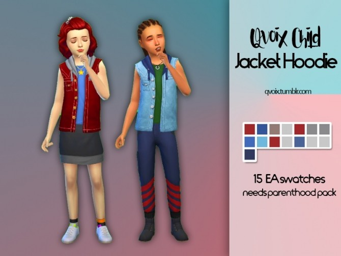 Qvoix Child Jacket Hoodie at qvoix – escaping reality image 1242 670x503 Sims 4 Updates