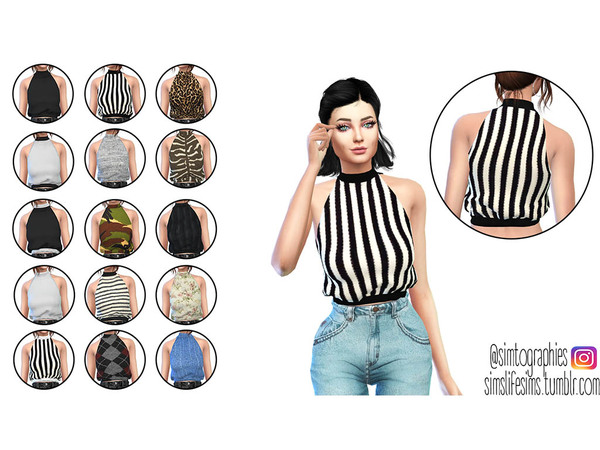 High Neck Top by simtographies at TSR image 1243 Sims 4 Updates