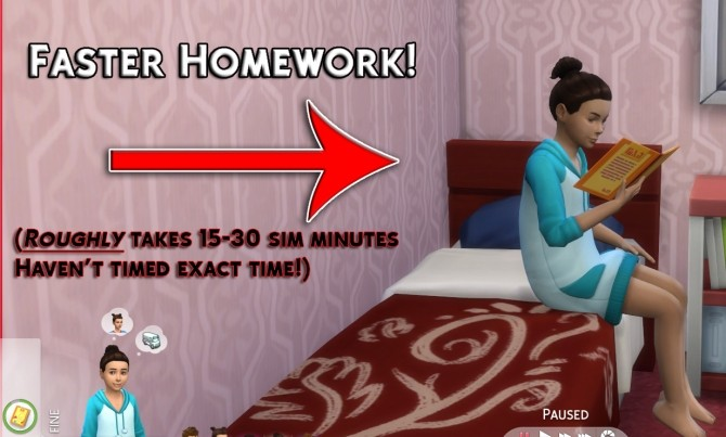 Faster Homework by Simstopics at SimsWorkshop image 12510 670x403 Sims 4 Updates