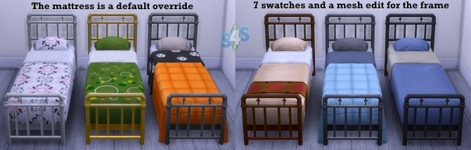 Sims 4 Separated metal bedframe and matress by OM at Sims 4 Studio