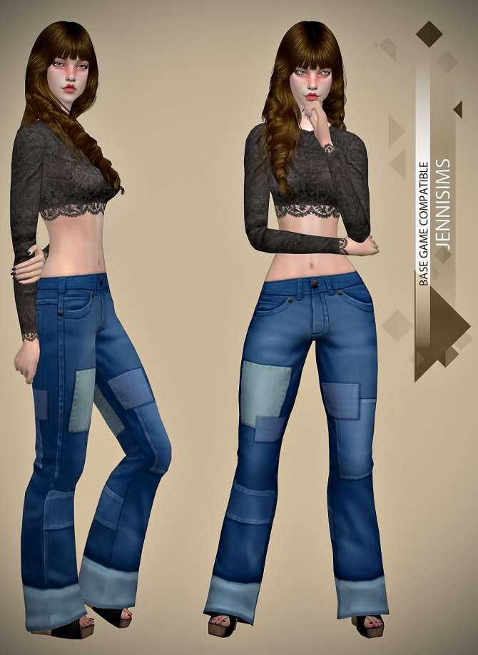 Base Game compatible Jeans Patched at Jenni Sims image 1265 670x918 Sims 4 Updates