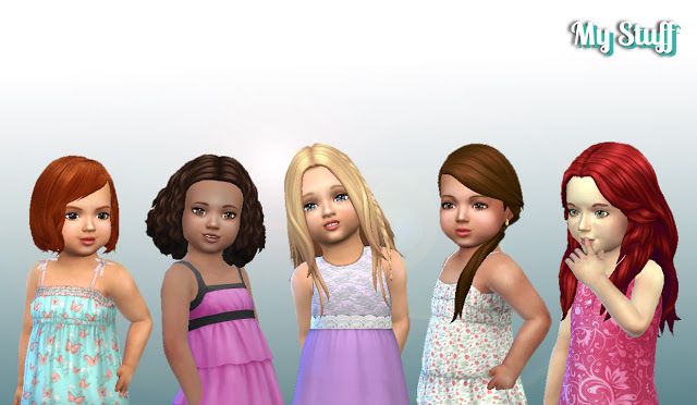 Sims 4 Toddlers Hair Pack 9 at My Stuff