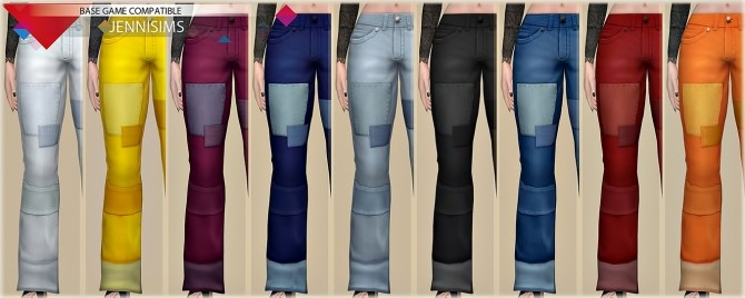 Sims 4 Base Game compatible Jeans Patched at Jenni Sims