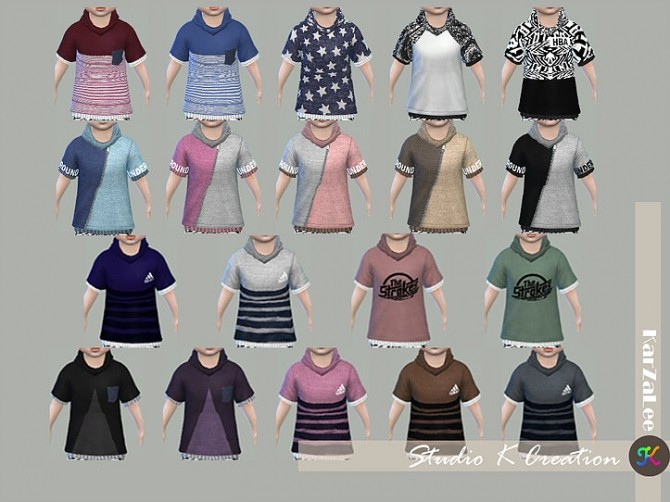 Giruto 26 High neck tee toddler at Studio K Creation image 1276 670x502 Sims 4 Updates