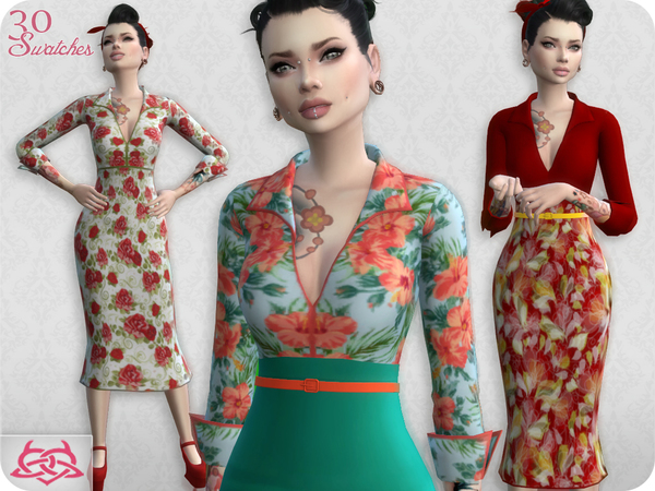 Sims 4 Set Blouse / Skirt RECOLOR 2 by Colores Urbanos at TSR