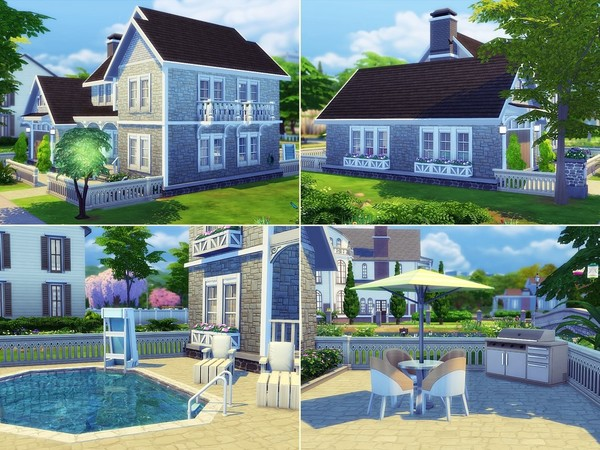 Sims 4 Whisper house by MychQQQ at TSR