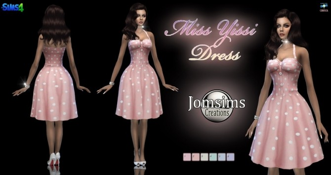 Miss yissi dress at Jomsims Creations image 1285 670x355 Sims 4 Updates